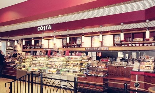 Costa Birmingham Airport Website