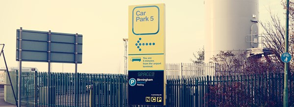 Entrance sign for Car Park 5