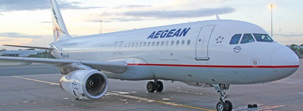 Aegean first flight from bhx