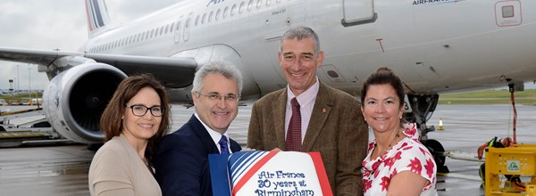 Air France Celebrates 30 Years at Birmingham Airport