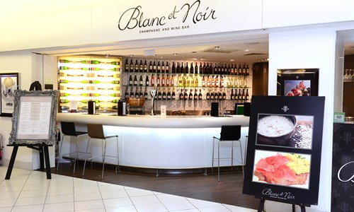 blanc et noir champagne bar birmingham airport website. Black Bedroom Furniture Sets. Home Design Ideas