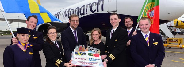 Monarch's Stockholm and Porto inaugural flights take off from Birmingham Airport