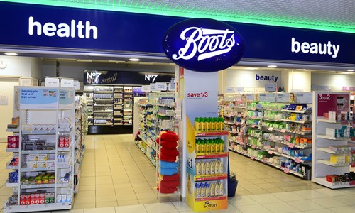 official site various design detailed look Boots - Birmingham Airport Website