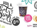 Wrapchic- Add a hot drink to your breakfast for just £0.95