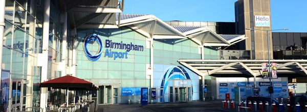 Birmingham airport from the outside