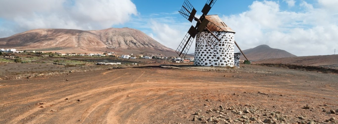Traditional Windmill in Fuerteventura